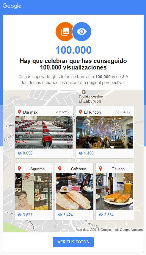 Notificaciones de Google para los local guide