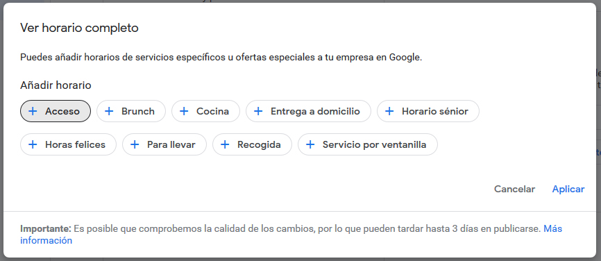 Novedades importantes en MyBusiness: Horario completo Google My Business